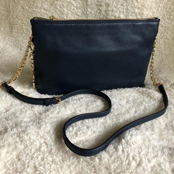 Michael Kors Handbags - Michael Kors Navy Leather Crossbody Bag, new!